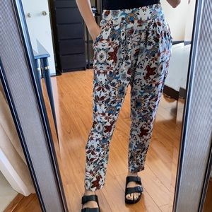 Fun Printed Light Weight Pants with Pockets